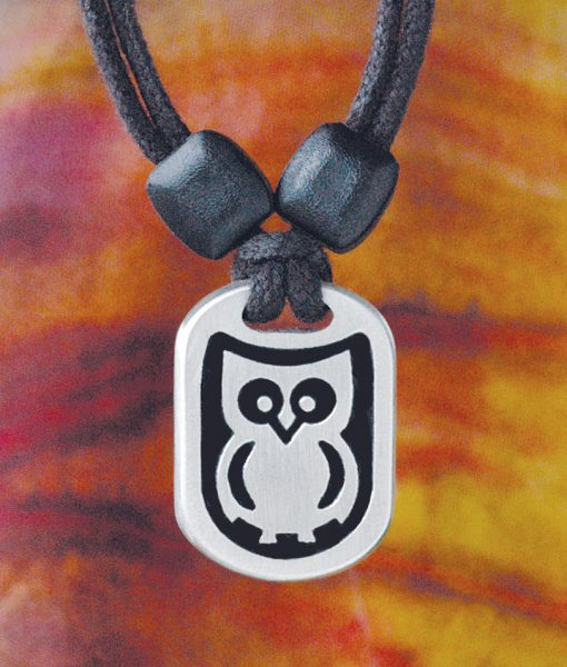 Owl Pewter Pendant