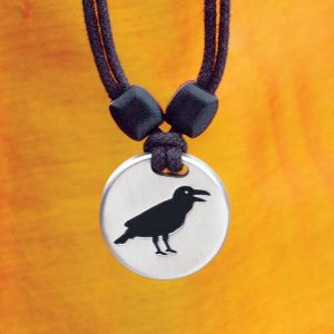 raven pewter pendant