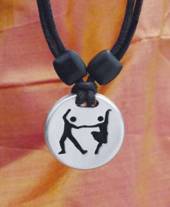 Swing Dancers pewter pendat