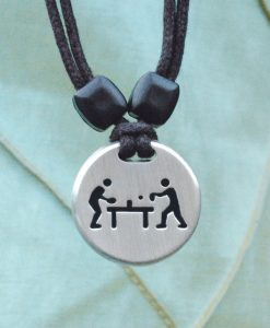 Table Tennis Pewter Pendant