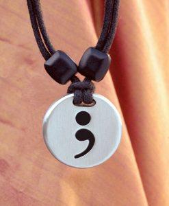 semicolon pendant