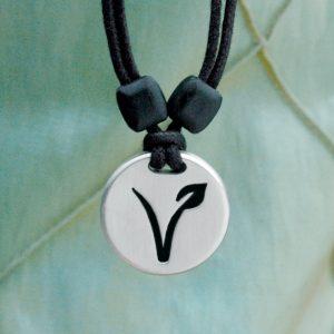 vegan pewter pendant